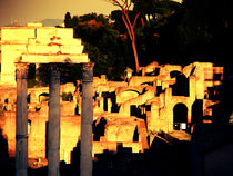 Roma old city at sunset by marga-sol