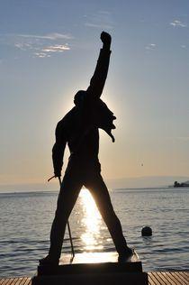 Freddie Mercury@Lake Geneva,Montreux by Paul Lindeboom