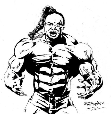 Kai greene beast mode drawing art prints and posters by for Kai greene painting