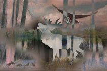 Natur mit Hirsch by pahit