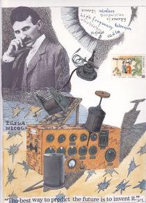 tribute to Nicolas Tesla by Kyra Munk Matustik