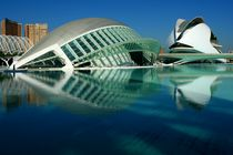 Valencia, Hemisfèric y Palau de les Arts  von Frank Rother