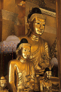 Golden Buddha Statues by Wolfgang Kaehler