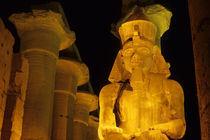 Temple of Luxor Illuminated at Night by Wolfgang Kaehler
