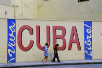 Cuba Sign on Wall by Wolfgang Kaehler