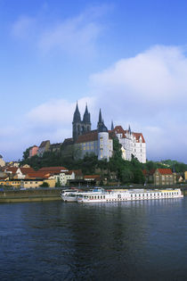 View of Albrechtsburg Castle and Meissen'S Gothic Cathedral von Wolfgang Kaehler