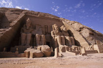 Great Temple of Abu Simbel Four Statues of Ramses Ii by Wolfgang Kaehler