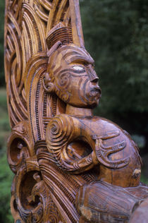 Detail of Carved Canoe by Wolfgang Kaehler