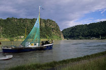 Old Fishing Boat In Foreground by Wolfgang Kaehler