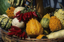 Market Scene with Squash &Amp; Pepperoncino Piccante (Peppers) by Wolfgang Kaehler