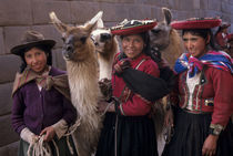 Local Women with Llamas by Wolfgang Kaehler