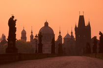 Charles Bridge at Dawn with Old Town Bridge Tower von Wolfgang Kaehler