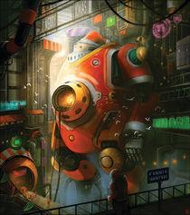 Robot Santa by Gin L
