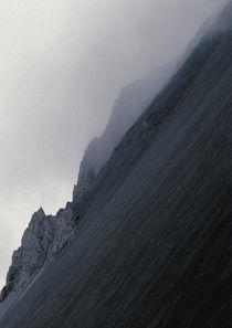 Fog at Hafnarfjall by Kristjan Karlsson