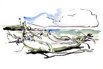 Perahu di pantai Yeh Gangga