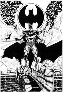 Batman and the bats by Martin Salinas
