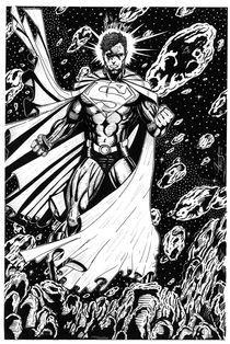 Superman asteroids by Martin Salinas