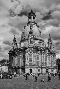 Frauenkirche, Dresden - schwarz-weiss von Jörg Hoffmann