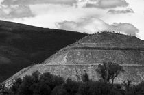 PYRAMID CLIMBERS Teotihuacan Mexico by John Mitchell