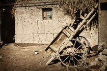 Old bullock-cart in Khiva