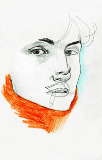 Red turtleneck by Gaelle Charlot