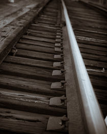 Tracks- historic rail tracks in Raleigh NC by Joanna Kapica