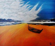 Einsames Boot am Strand von Heinrich Reisige