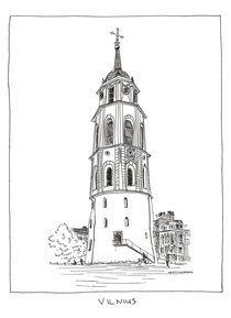 Cathedral's Belfry by Raimondas Žukauskas