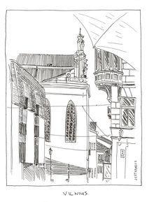 Street View in The Old Town by Raimondas Žukauskas