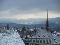 View over Zurich in Winter by Elizabeth Marsden