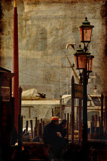 The gondolier's rest by Giuseppe Maria Galasso