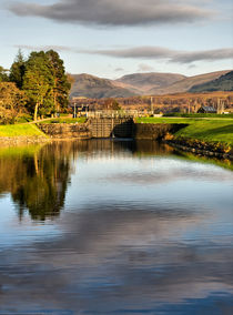 Caledonian Canal Lock Scotland by Jacqi Elmslie