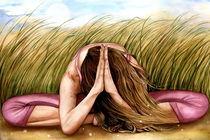 namaste yoga art by claudia tremblay