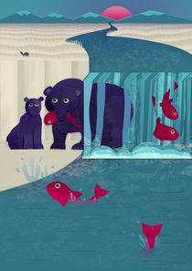 Bears fishing von Fish Foot