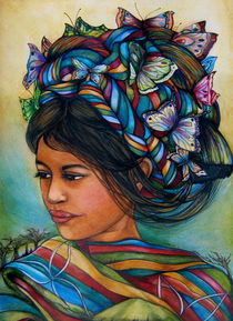 woman with butterflies by claudia tremblay
