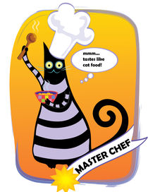 Master chef greeting card von Jana Nikolova