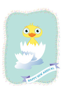 New arrival greeting card von Jana Nikolova
