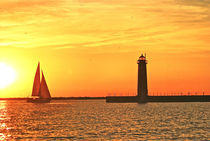 Muskegon Sunset by Michael Peychich