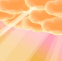 Warm happy clouds von George Panayiotou