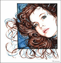 Girl in Watercolours by Tanja Gotthardsen