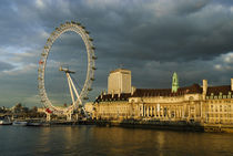 London Eye at Sundown by Gerry Walden