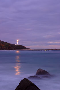 Norah Head Lighthouse at sunset by Mark Lucock