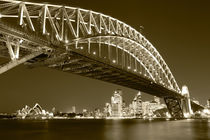 Sydney Harbour Bridge and Opera House by Mark Lucock