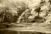 Infrared Image of Somersby Falls by Mark Lucock