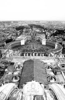 Rome- St.Peter's Basilica Square (B&W, Veritcal) by Gautam Tingre