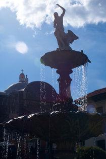 Fuente con iglesia von Ricardo Anderson