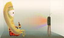 Television hallucination by Milda Karpaviciute