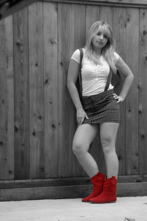 Red Boots von Ashley Robertson