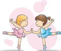 Two little ballerinas by funfang