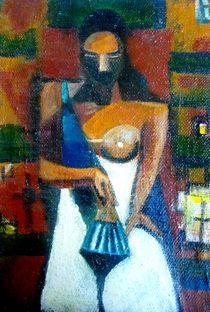 Lady with the fan /replica/ by Kiril Katsarov